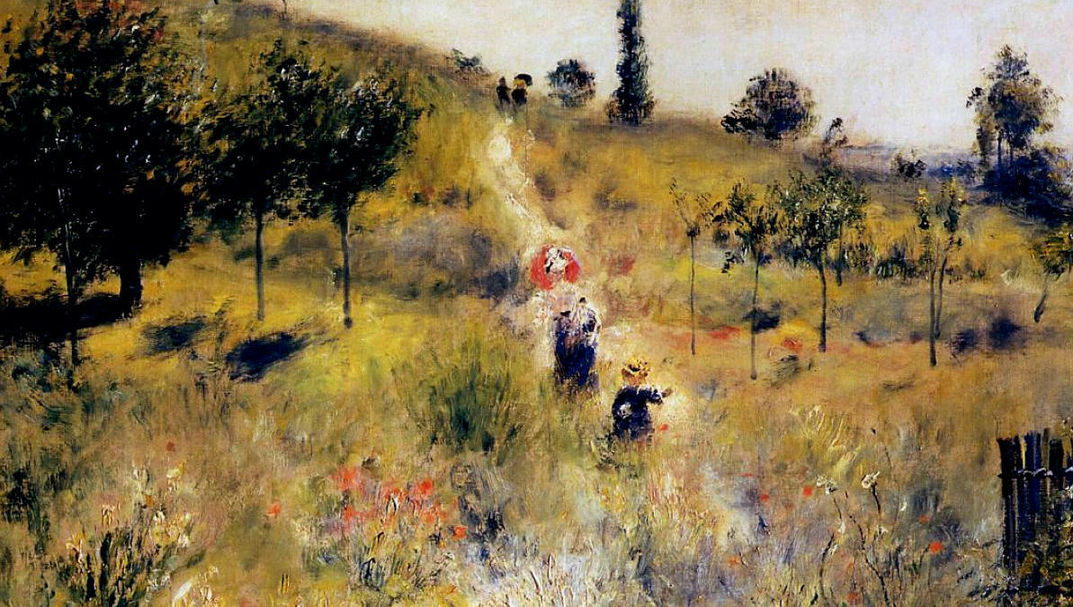 Painting, Path Leading through Tall Grass by Renoir 1877